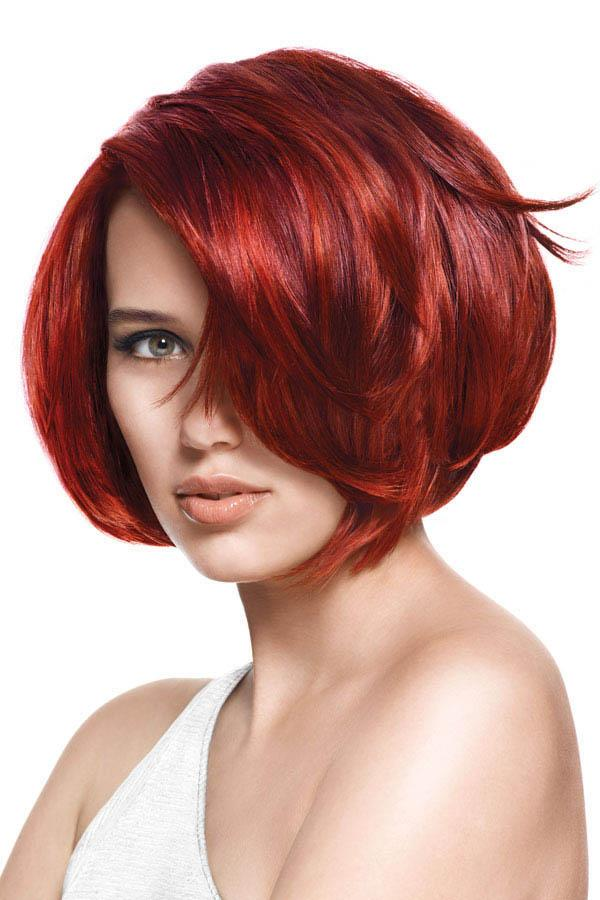 Versatile and feminine; Red bob Hairstyles | Red Hairstyle