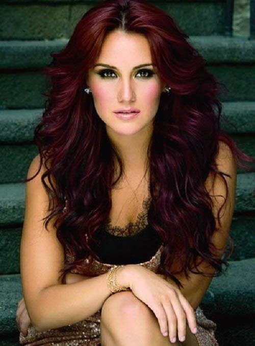 Burgundy hair dye; for anyone who is looking for a sensual and intense