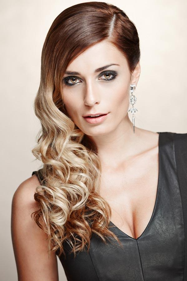 Red blonde ombre new hairstyle trend 2014