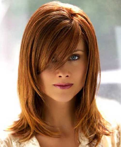 long layered copper hairstyle