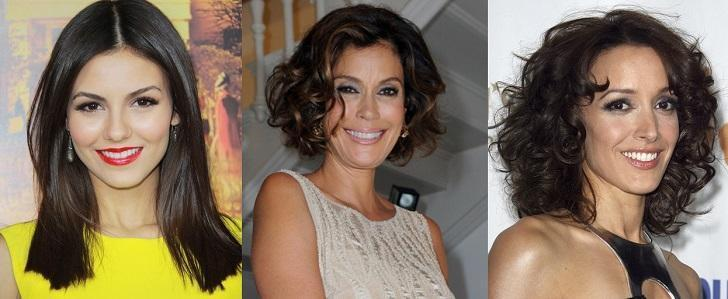 Victoria Justice, Teri Hatcher, Jennifer Beals brown hair colors